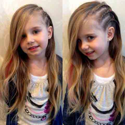 side part braided hairstyles for long hair little girls hairstyles for eid party 2017