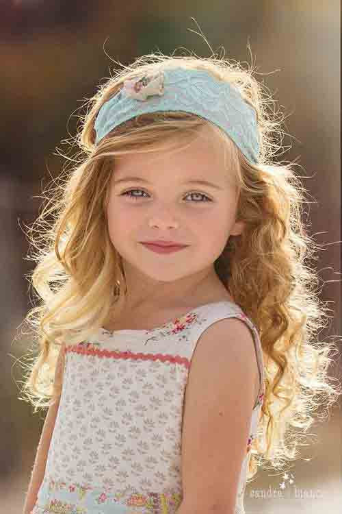 cute medium hairstyle for wavy hair little girls hairstyles for eid party 2017