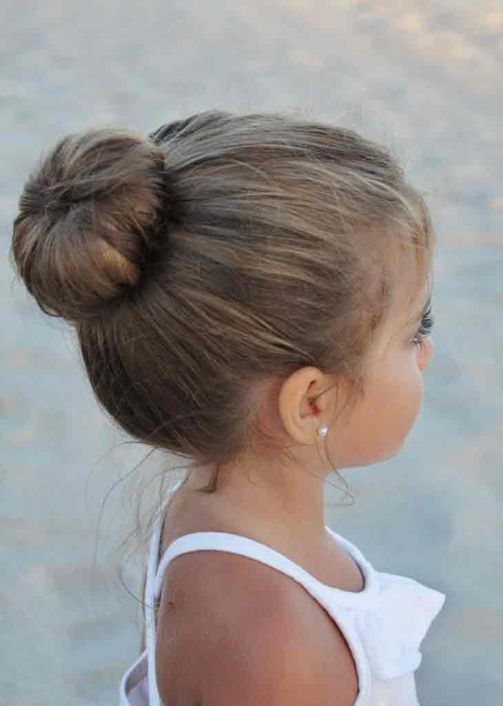 latest updo hair bun little girls hairstyles for eid party 2017