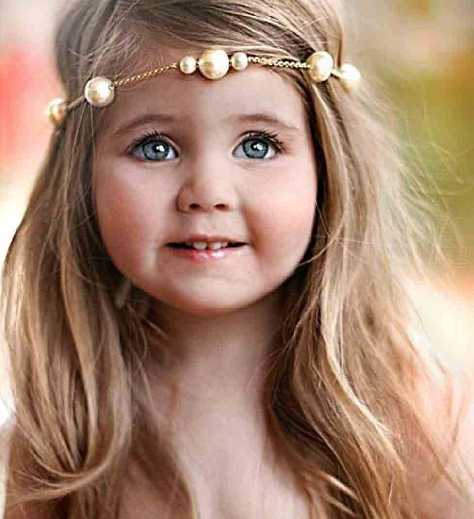 golden pearls headbands for medium hair little girls hairstyles for eid party 2017