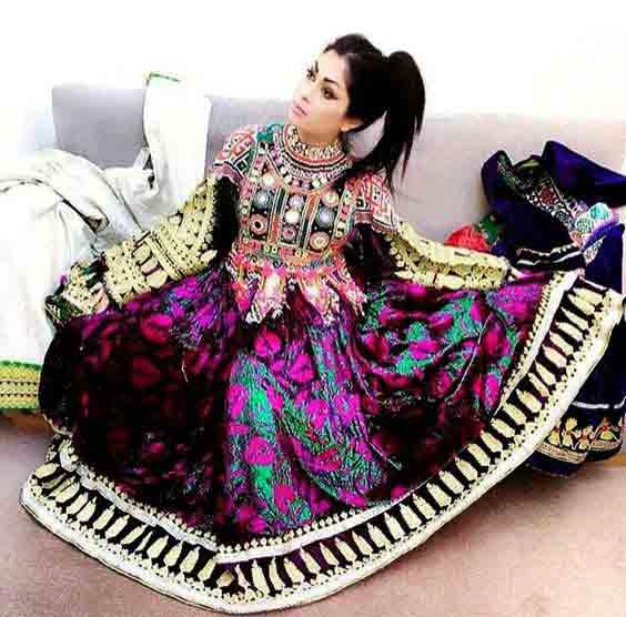 latest purple pathani frock style dress designs 2017