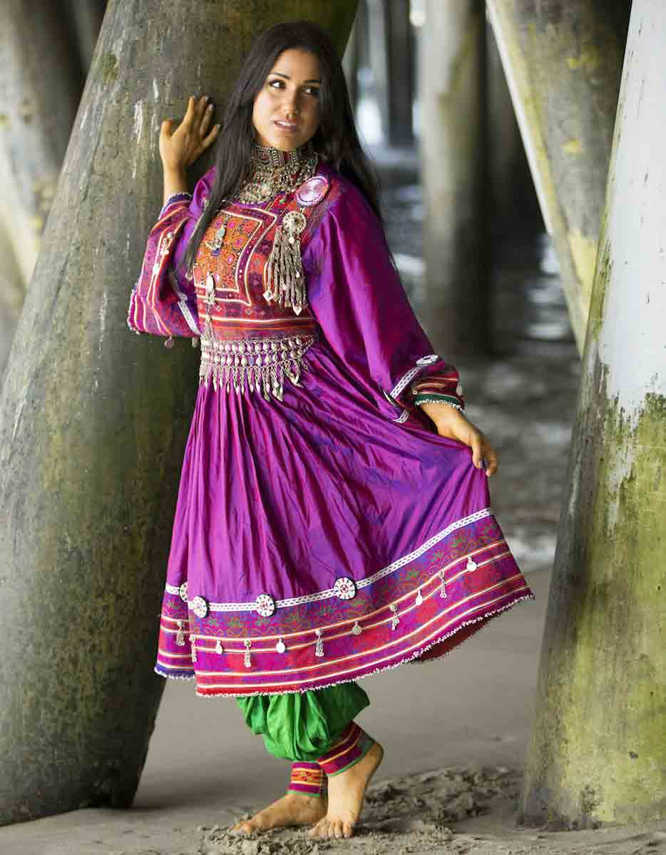 latest magenta pathani frock style dress designs 2017