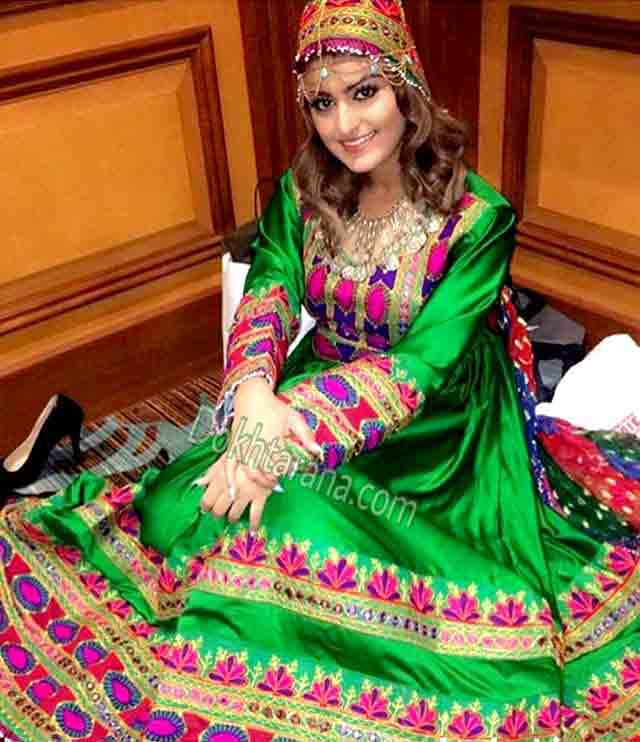 new royal green pathani frock style dress designs 2017