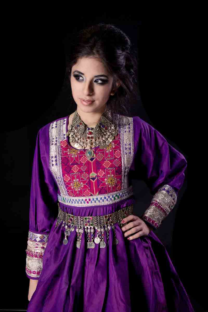 best purple and shocking pink pathani frock style dress designs 2017