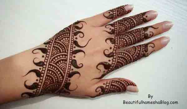 Easy back hand simple Pakistani mehndi designs 2017 for eid