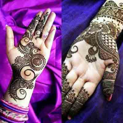 Easy front hand and wrist simple Pakistani mehndi designs 2017 for eid