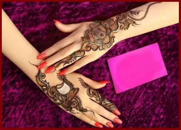 Beautiful back hand latest simple Pakistani mehndi designs 2017 for eid
