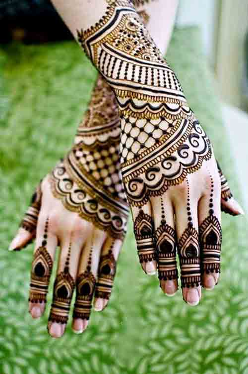 Full back hand simple Pakistani mehndi designs 2017 for eid