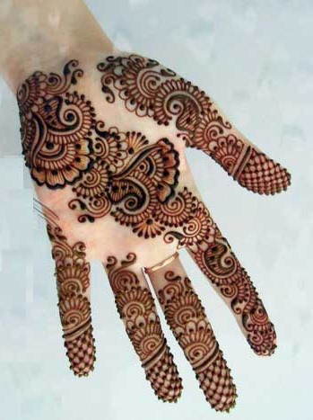 Full front hand beautiful and simple Pakistani mehndi designs 2017 for eid