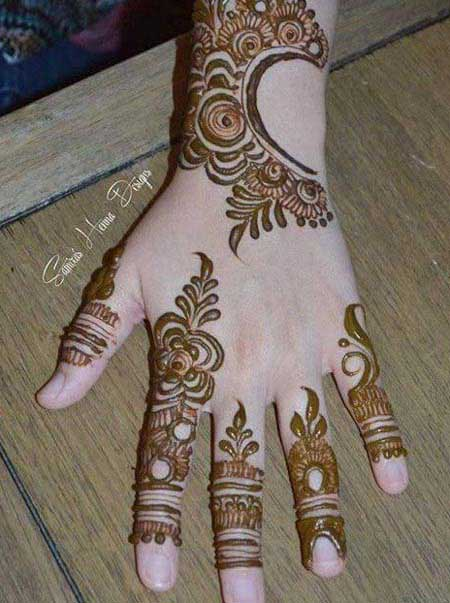 Simple Pakistani Mehndi Designs For Eid