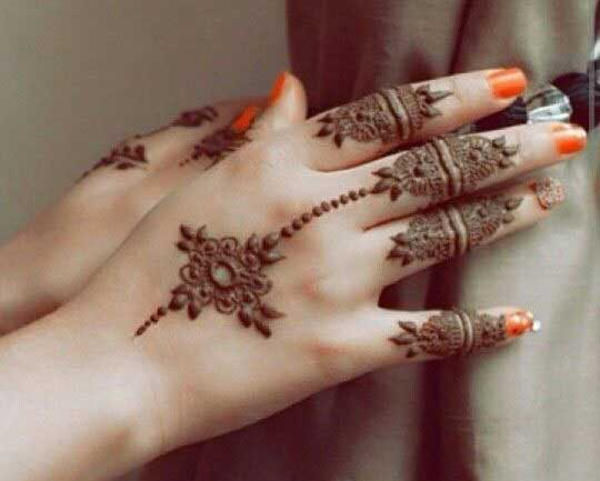 back hand beautiful and simple Pakistani mehndi designs 2017 for eid