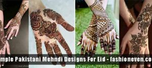 different mehndi styles of front hand and back hand simple Pakistani mehndi designs 2017 for eid