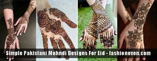 Simple Pakistani Mehndi Designs For Eid 2019