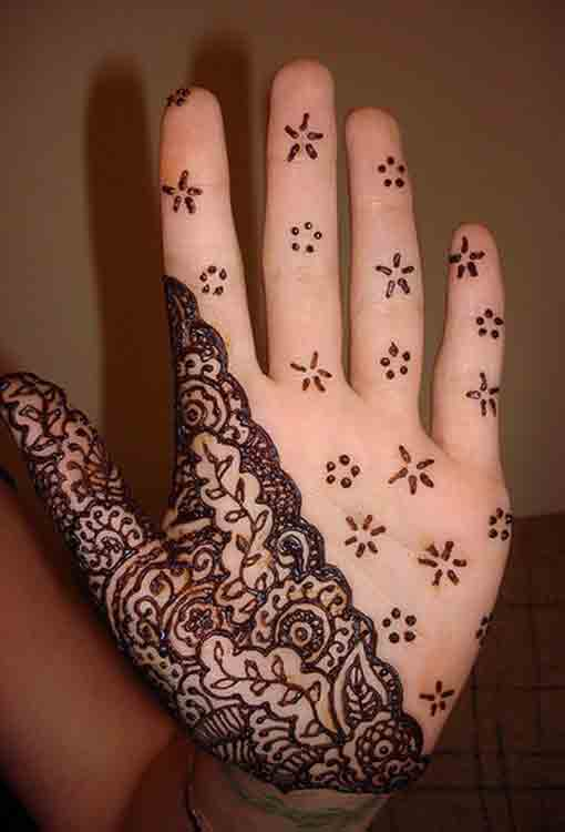 front hand half mehndi designs for men 2017