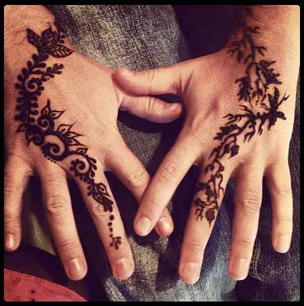 new style of mehndi designs for men 2017
