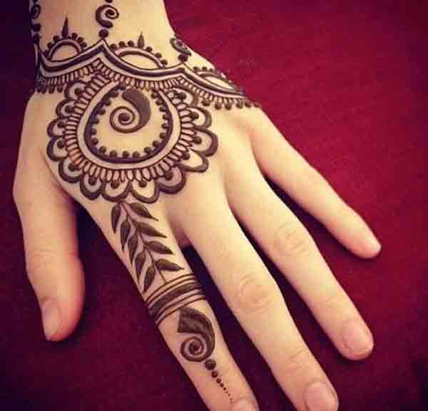 best back hand mehndi designs for men 2017