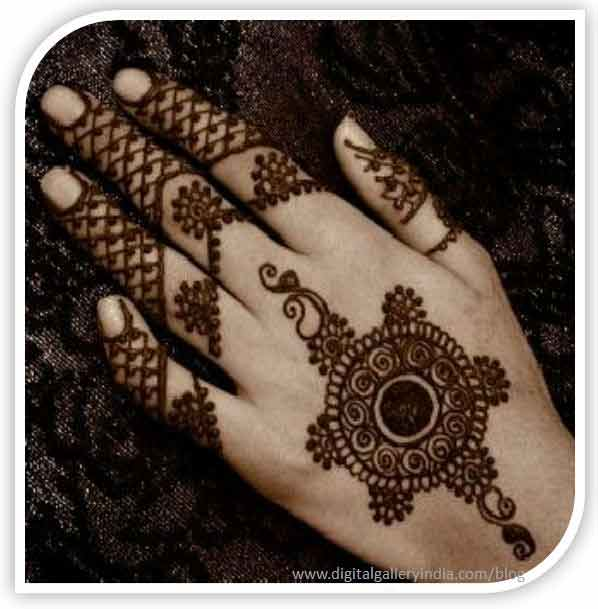 best back hand gol tikka mehndi designs for men 2017