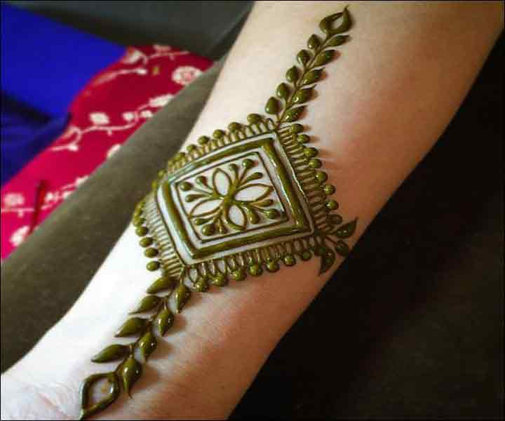 latest wrist mehndi designs for men 2017