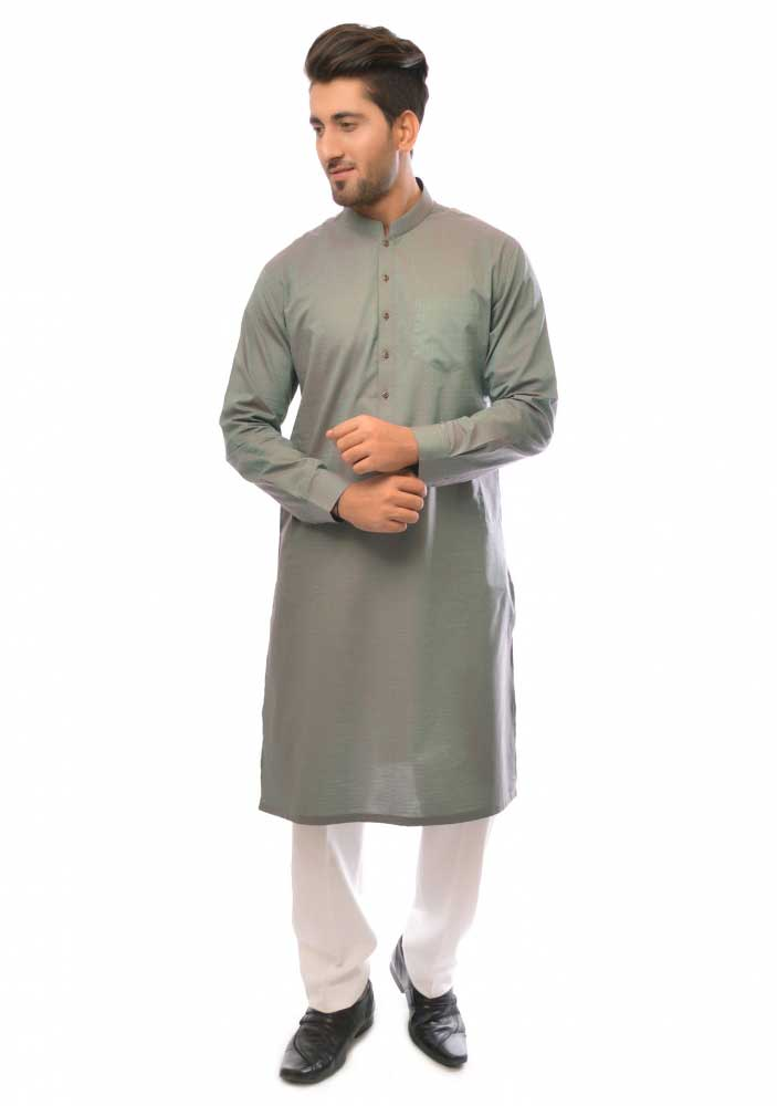 Gray new Eid kurta dresses for boys 2017 Amir Adnan