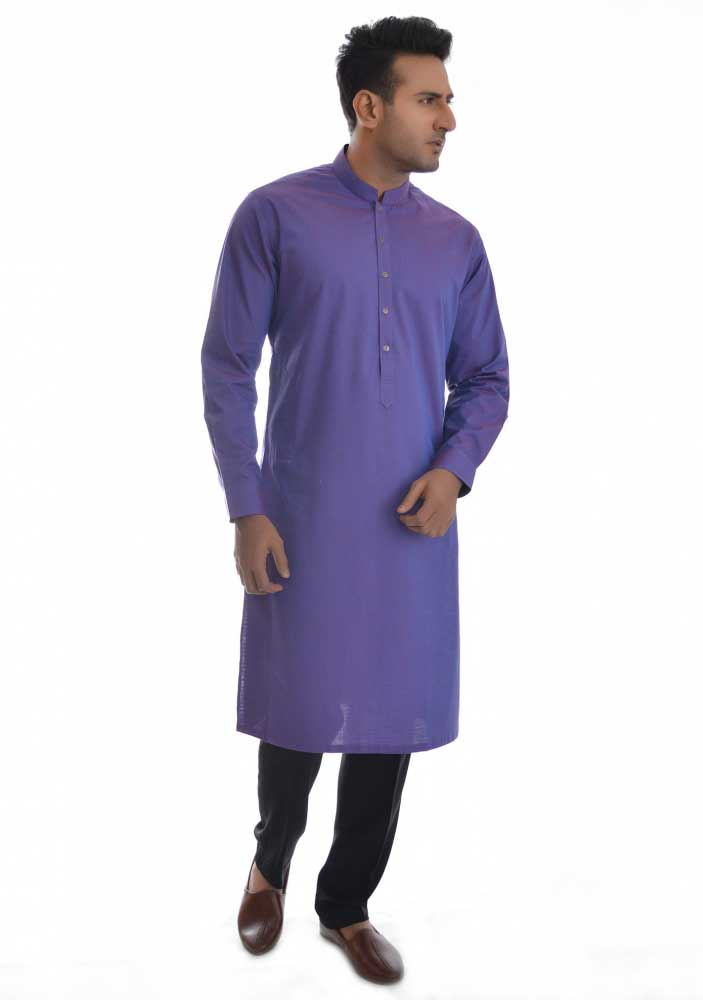Blue new Eid kurta dresses for boys 2017 Amir Adnan