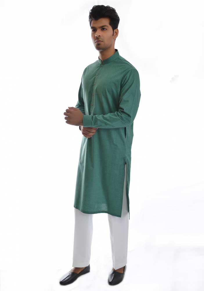 Green new Eid kurta dresses for boys 2017 Amir Adnan