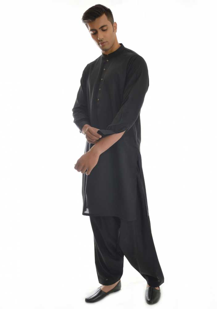 Best black new Eid kurta dresses for boys 2017 Amir Adnan