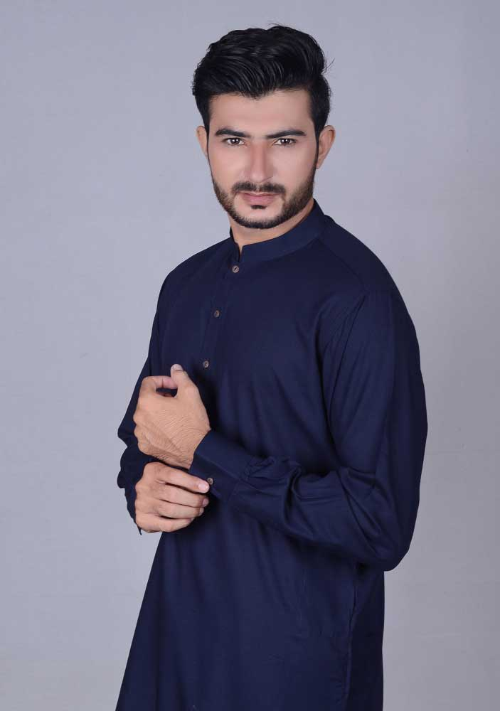 Dark blue kurta new Eid kurta dresses for boys 2017 Amir Adnan
