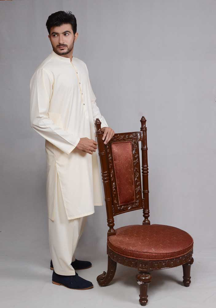 Off white kurta new Eid kurta dresses for boys 2017 Amir Adnan