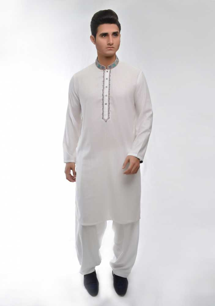 Best white new Eid kurta dresses for boys 2017 Amir Adnan