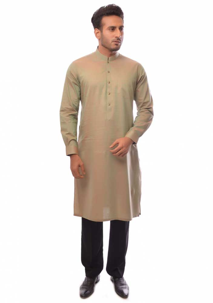 Light brown new Eid kurta dresses for boys 2017 Amir Adnan