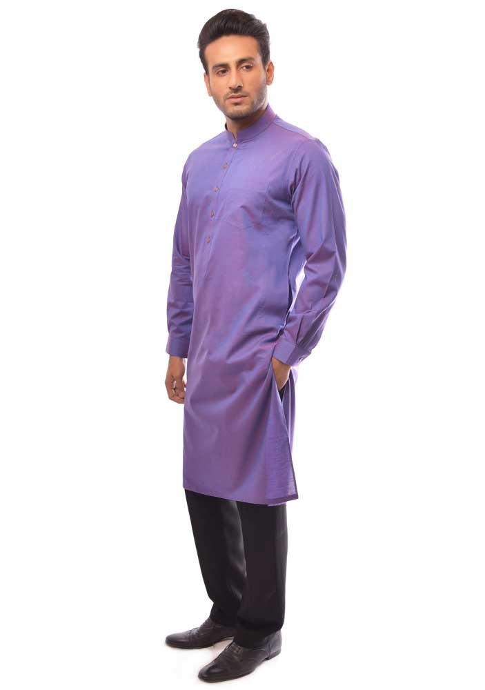 Purple new Eid kurta dresses for boys 2017 Amir Adnan