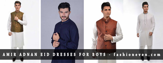 Eid Kurta Designs For Boys 2017 By Amir Adnan