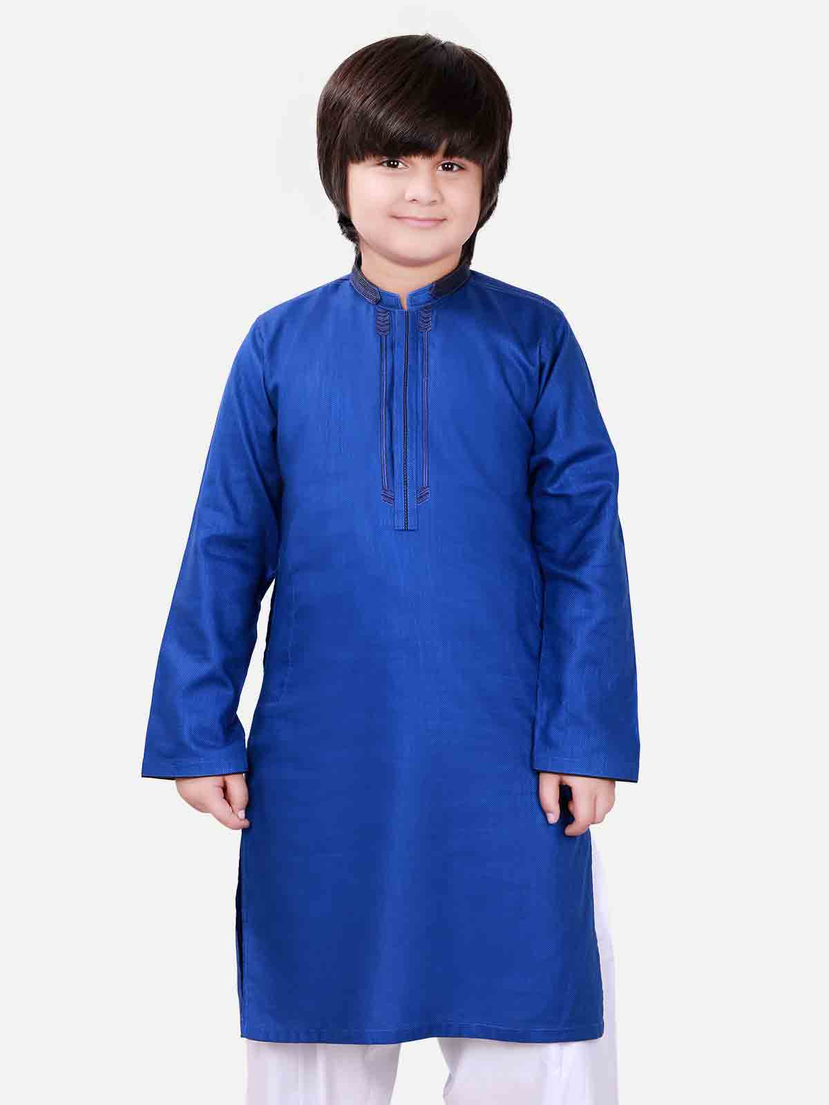 Blue kameez shalwar latest eid dresses for little boys in Pakistan 2017