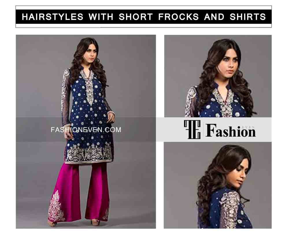 long hair curls eid party hairstyles with short frocks shirts and peplum