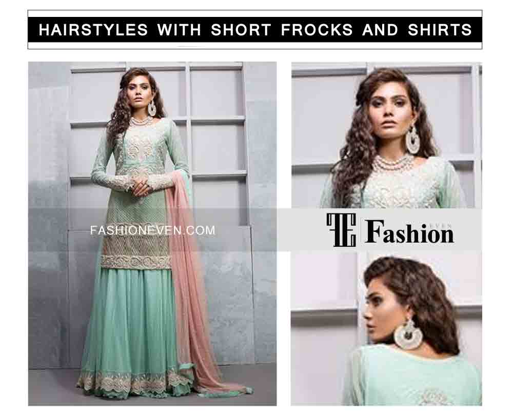 latest curls hairstyles eid party hairstyles with short frocks shirts and peplum