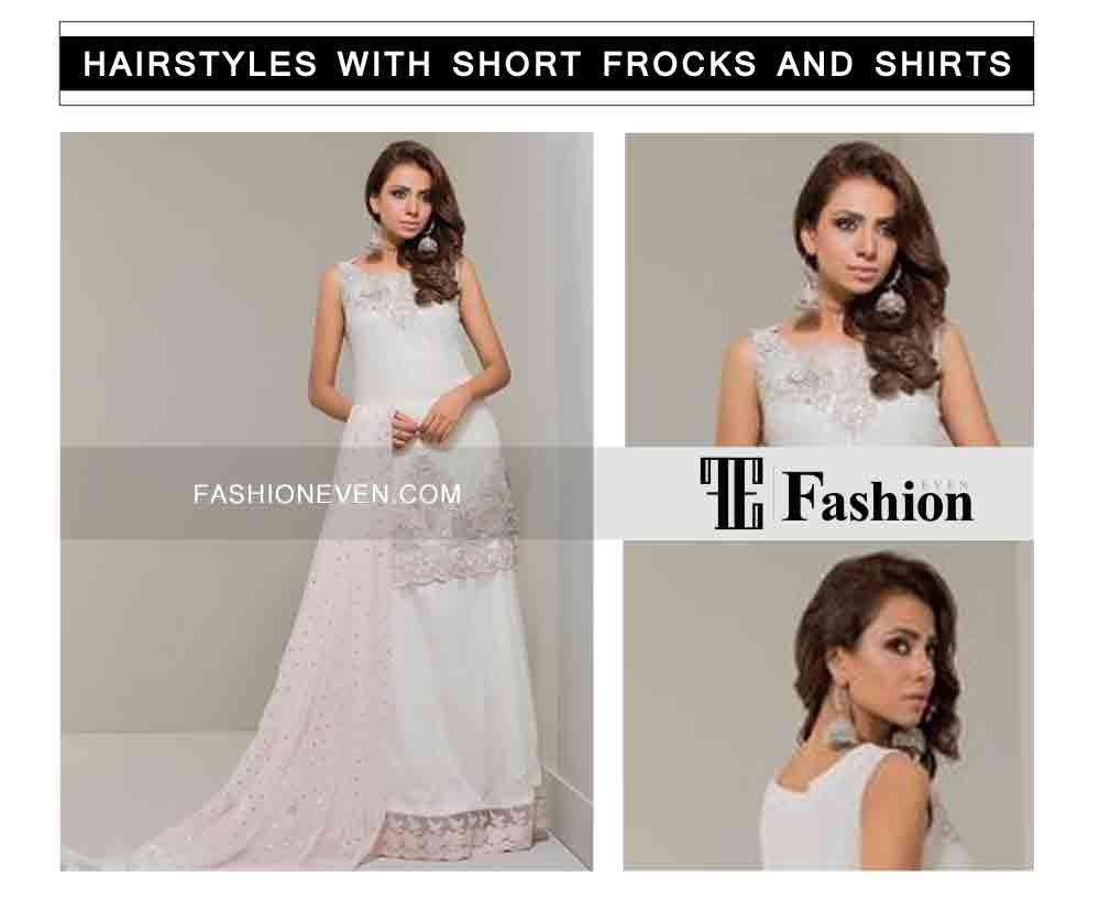 new sexy side curly waves eid party hairstyles with short frocks shirts and peplum