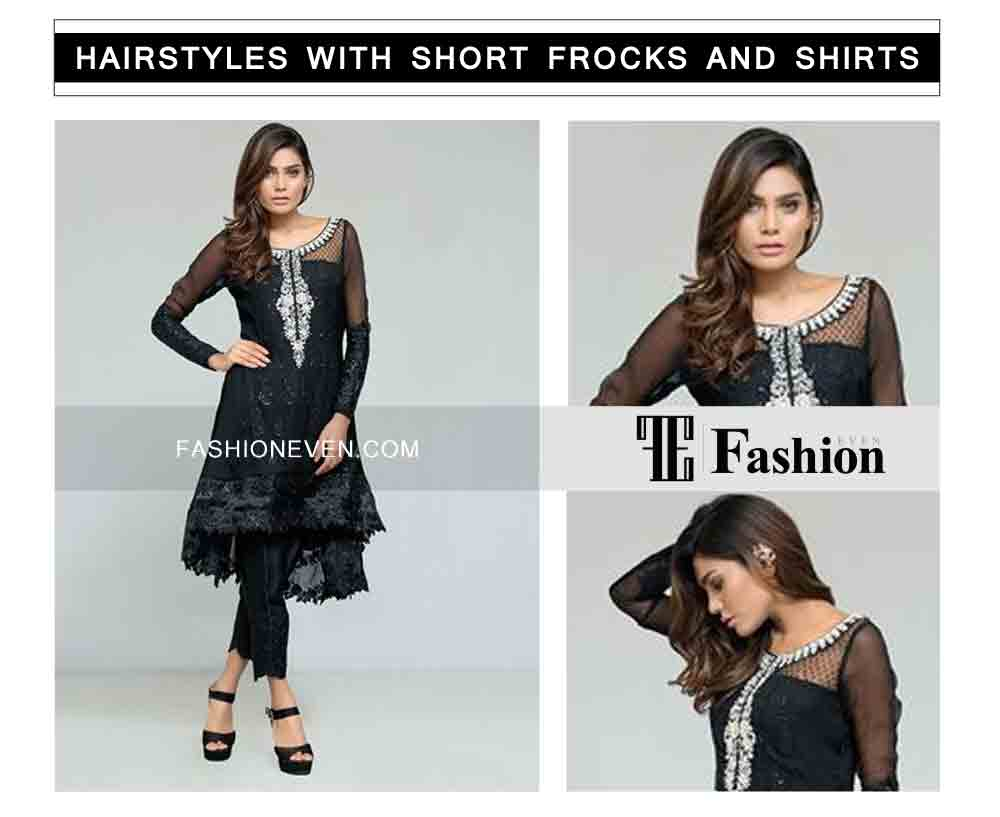 sexy side hair curls eid party hairstyles with short frocks shirts and peplum
