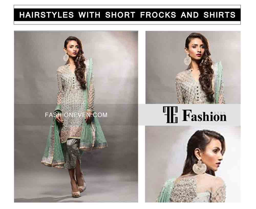 best side swept eid party hairstyles with short frocks shirts and peplum