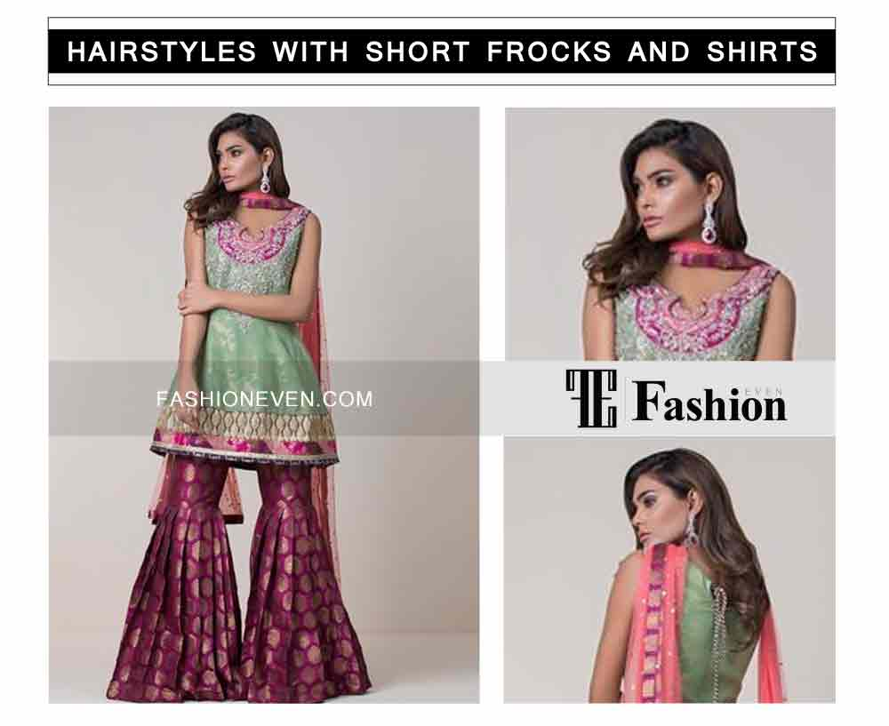 latest hair style eid party hairstyles with short frocks shirts and peplum