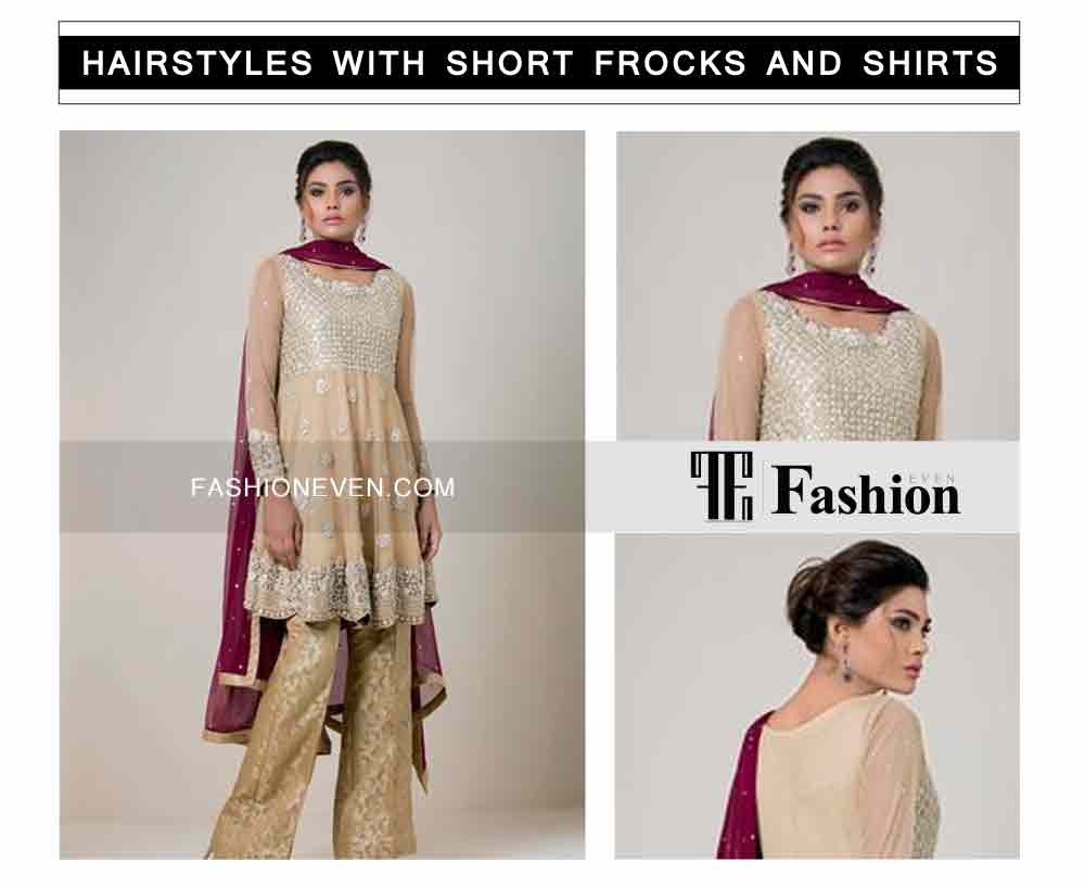 best hair bun eid party hairstyles with short frocks shirts and peplum