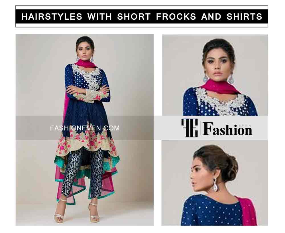 new hair bun eid party hairstyles with short frocks shirts and peplum