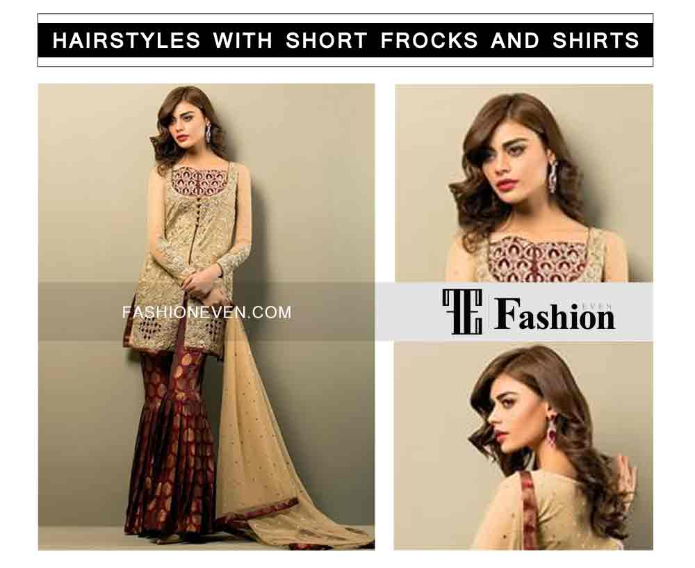 new hairstyle with front hair puff eid party hairstyles with short frocks shirts and peplum