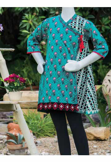 Ferozi angrakha style frock with black tights latest kids eid dresses for little girls in Pakistan 2017