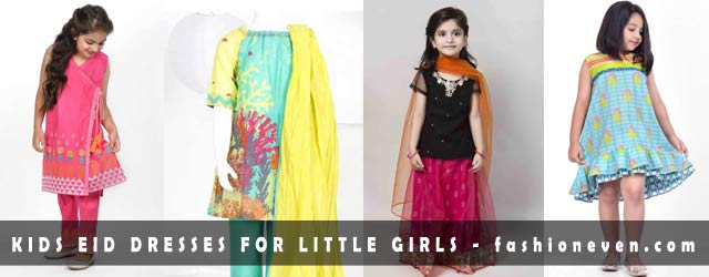 latest kids eid dresses for little girls in Pakistan 2017