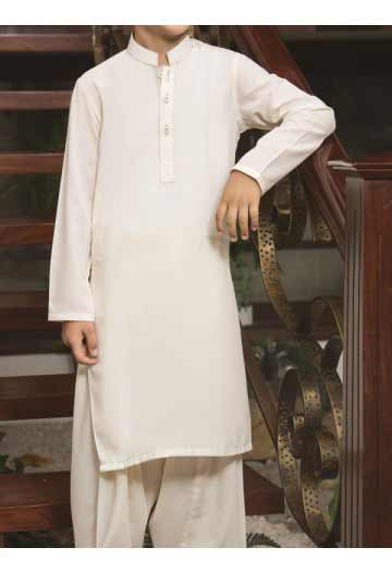 J J white kameez shalwar latest eid dresses for little boys in Pakistan 2017