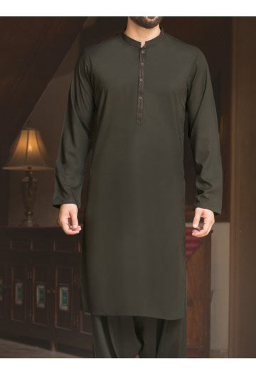 latest black men eid kurta shalwar kameez and waistcoat dress designs 2017 by Junaid Jamshed