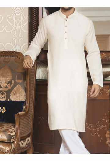 latest off white men eid kurta shalwar kameez and waistcoat dress designs 2017 by Junaid Jamshed