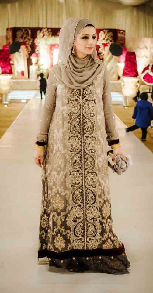 latest designer hijab collection new eid party hijab style 2017