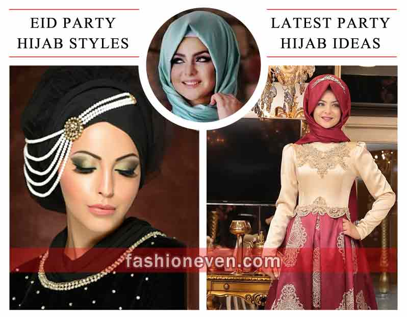 Party Hijab Styles For Eid 2019 New Hijab Style