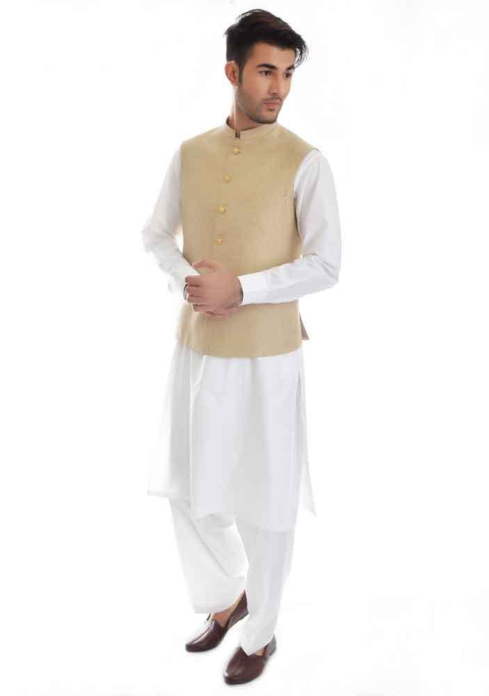 white kurta design with waistcoat latest amir adnan men kurta designs for ramadan 2017